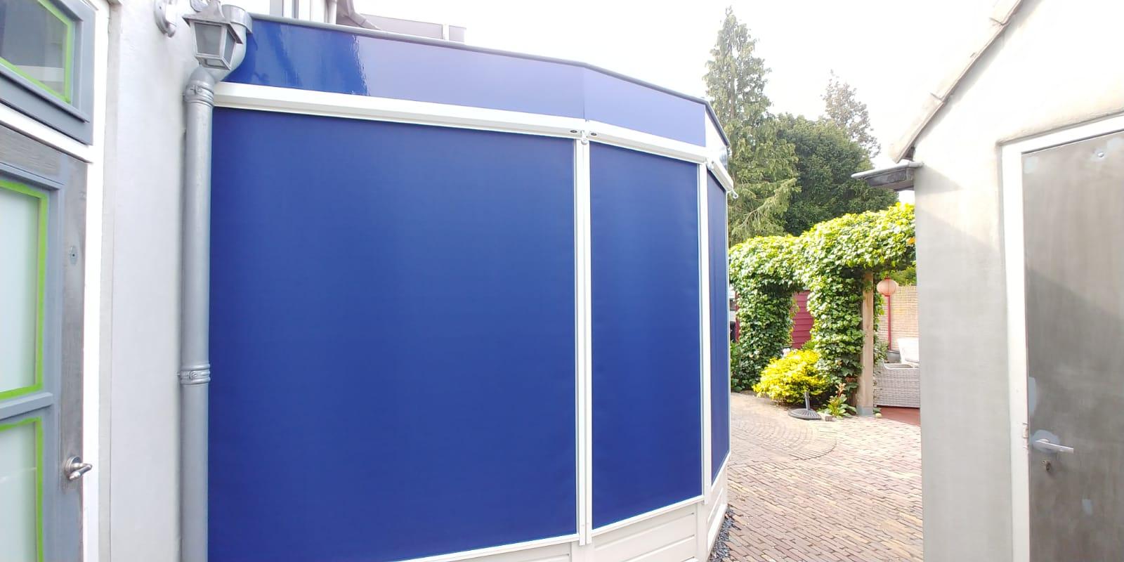 Screens blauw Hennie's Zonwering