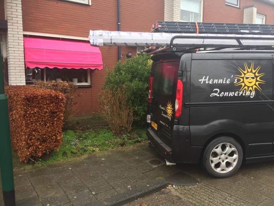 Markies roze Hennie's Zonwering