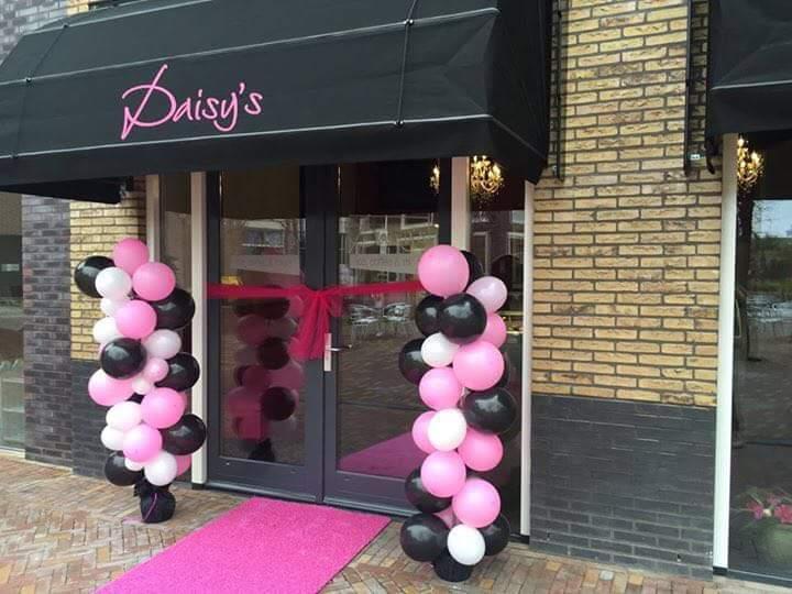 Markies zwart met roze Hennie's Zonwering