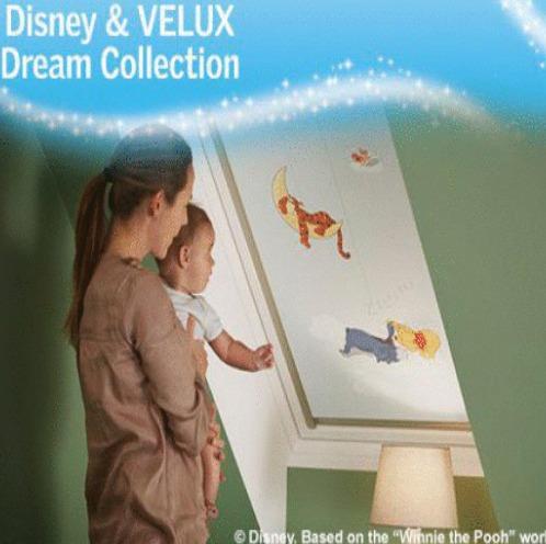Velux Disney droomcollectie rolgordijn Hennie's Zonwering