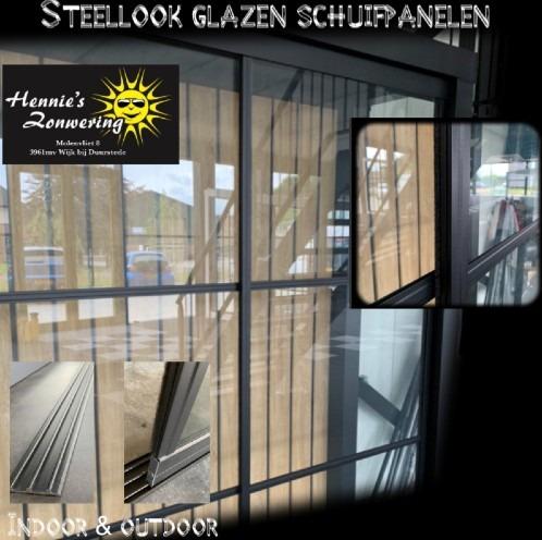 Steellook glazen schuifpanelen Hennie's Zonwering